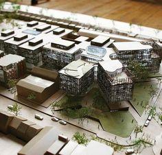 Erstaunliches Modell Architekt ist unser Leben Bitte Folge موسسه معماری و هنری محی Architecture Student, Concept Architecture, Landscape Architecture, Architecture Design, Scale Models, 3d Modelle, Modern Architects, Arch Model, Building Design