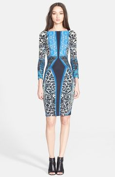 Roberto+Cavalli+Mix+Print+Jersey+Dress+available+at+#Nordstrom