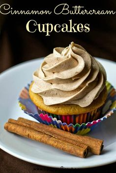Cinnamon Buttercream Cupcakes
