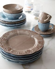 16 Pc. Handpainted Tuscan Dinnerware Set, Italia by Pamela Gladding ...