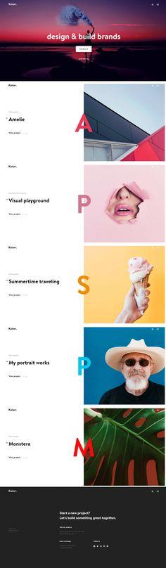 이니셜과 컬러가 각 프로젝트의 정체성을 나타냄