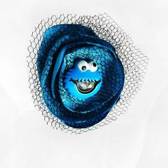 Cookie Monster Fabric Flower Applique by beautifulswagstore, $4.80 #teamdream #teamsellit #coupon TEAMDREAM 18% off #RT