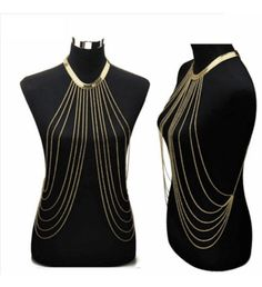Body Harness Jewellery Chain-Golden