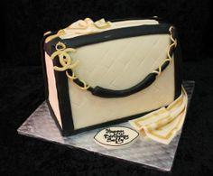 Chanel Purse Cake   Chanel handbag cake