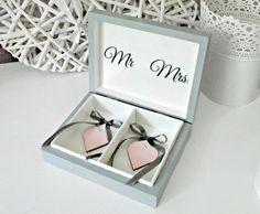 """wedding ringbox in grey  ślubne pudełko na obrączki w romantycznym wydaniu """"Romantic Cold"""" by Eco Manufaktura"""