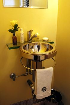 Make a Statement in Your Powder Room | Bathroom Ideas & Design with Vanities, Tile, Cabinets, Sinks | HGTV