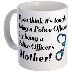 CafePress - Tough Police Mom - Unique Coffee Mug, Coffee Cup Police Family, Police Life, Police Officer Wife, Police Party, Cops Humor, Police Lives Matter, Police Academy, Mom Mug, Thin Blue Lines
