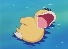 Pokemon Psyduck My baby is floating without his floaties this is a huge accomplishment.