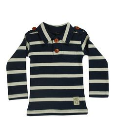 Look what I found on #zulily! Navy Stripe Polo - Infant, Toddler & Kids by Those Baby Basics #zulilyfinds 18.99