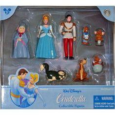 Disney Cinderella Poseable Figure Figurine Set