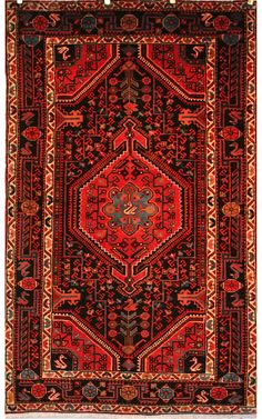 Rug Number: 005-7062 Size: 4'7 X 6′9 Style: Tribal Type: Bakhtiari Origin: Persian/Iran Age: Antique Color: Red Content: 100% Wool Construction: Hand Knotted