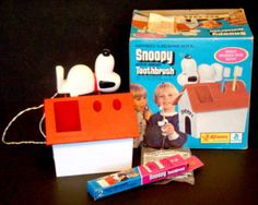 """I had this!  The Snoopy toothbrush.  The fact that it """"buzzed"""" was very impressive back then."""