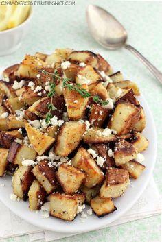 Lemon Feta Roasted Potatoes