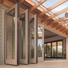 Need with grids - Anderson windows & doors folding outswing doors on both living...  #Anderson #Doors #Folding #foldingglassdoors #grids #Living