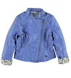 Retour Jeans imitatieleren zomerjas / jack met a-symetrische ritssluiting - Kobalt - NummerZestien.eu