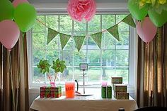 Pumpkin Petunia: LILLY PULITZER INSPIRED PINK & GREEN PARTY