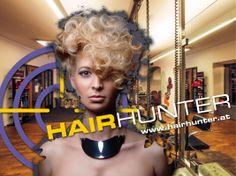 Neues Sujet aus einer Serie für Projektionen und Plakate von Hairhunter - 4x in Graz Corporate Design, Editorial Design, Web Design, Advertising Agency, Graz, Poster, Editorial Layout, Design Web, Branding Design