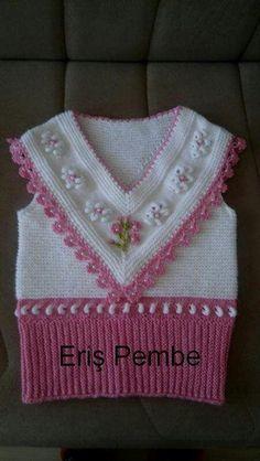 Knitting patterns, knitting designs, knitting for beginners. Kids Knitting Patterns, Baby Hats Knitting, Crochet Stitches Patterns, Crochet Patterns For Beginners, Knitting Stitches, Knitting Designs, Crochet Baby Jacket, Knitted Baby Cardigan, Baby Girl Dress Patterns