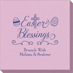 Easter Blessings Linen Like Napkins