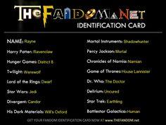 Fandom Card!