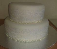 pearls and lace wedding cakes - Google Search