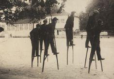 Соревнование на ходулях в Парке Горького, 1929 год