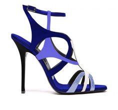 Sandali blu e azzurri Diego Dolcini