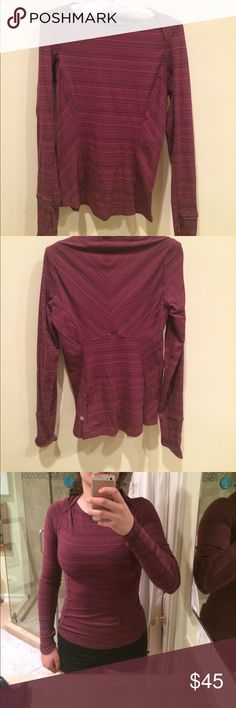 Long sleeve Lululemon top. Striped long sleeve Lululemon top that has only been worn once and is amazing quality. lululemon athletica Tops Tees - Long Sleeve