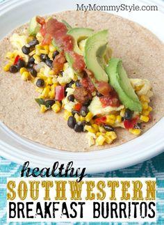 healthy southwestern breakfast burritos, breakfast recipe, mymommystyle