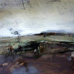 Russell Frampton (medium unknown so put in mixed media) Landscape Artwork, Abstract Landscape Painting, Landscape Drawings, Seascape Paintings, Contemporary Landscape, Contemporary Paintings, Abstract Art, Fine Art, Mixed Media