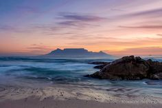 Bloubergstrand, Cape Town, South Africa [OC] x Cape Town South Africa, Blue Mountain, Landscape Photographers, Science And Nature, Vibrant Colors, Canvas Prints, City, Gallery, Natural Beauty