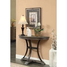 Christopher Knight Home Distressed Wood, Veneer,, and Steel Demilume Console Table