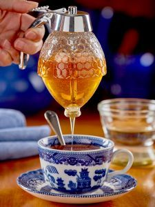 Glass Syrup and Honey Dispenser