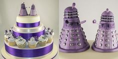 Cake designer Amanda Macleod created this fantastic wedding cake for [GAS] reader Graham H. and used two Daleks she made herself as the cake toppers. Description from pinterest.com. I searched for this on bing.com/images