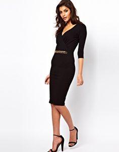 Enlarge ASOS Midi Dress With Chain Belt