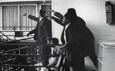 THIS DAY IN ROCK HISTORY: April 4, 1968: After the assassination of Dr. Martin Luther King, Jr. , riots break. In Boston, where James Brown is scheduled to perform, he calls for calm on stage and urges Bostonians not to riot. At New York City's New Generation club, Jimi Hendrix, B.B. King, Al Kooper, Buddy Guy, Ted Nugent, and Joni Mitchell  gathering for an all-night jam in tribute.