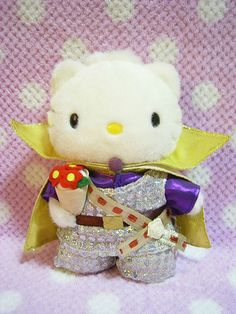 """Prince Dear Daniel Wedding From HELLO KITTY Harmony Land Sanrio JAPAN Plush Doll : *Condition* Used *The flower wrapping got colored from his clothing due to age. Other than that, it's very good condition.Since this one is *Used*, please make sure to check all of the pictures in the gallery before purchasing.* *This one was sold ONLY in the Harmony Land in JAPAN over 10 years ago!! *Size* About  7.1"""" (18cm) in height. 59.99-77.99 (8.50/9.50/12.50)"""