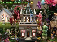 Dept 56 Flower Shop in Easter Display