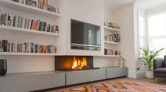 Bespoke Fireplaces I TV above Fireplace I Designer Fireplace