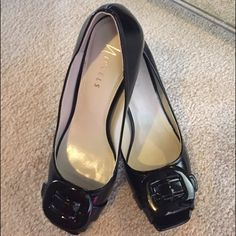 Nickels Black Peep Toe Pump These are so stylish with a cute peep toe and buckle!! Worn once and comes with box. No trades or PP.  3.75 in heel/black/9M/leather-upper. Nickels Shoes