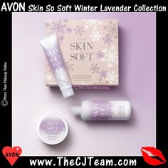 Skin So Soft Winter Lavender Collection Avon Skin So Soft, Avon Online, Cosmetic Packaging, Gift Sets, Hand Cream, Body Butter, Skin Makeup, Body Wash, Jasmine
