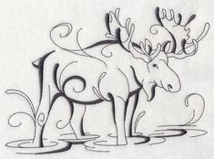Inky Moose in Water