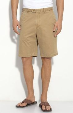 $85, Tan Shorts: Peter Millar Washed Twill Shorts British Tan 33. Sold by Nordstrom. Click for more info: https://lookastic.com/men/shop_items/256278/redirect