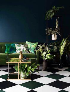 Jak urządzić wnętrze w kolorze ciemnej zieleni? EXAMPLE.PL