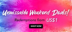 🍻 Hooray! These US$1 Weekend Deals are heating things up! Treat yourself to these weekend steals from Ampulogy, L'Occitane, L'Oreal & more -- you deserve it! Ends 2 Jun 2019. Weekend Deals, Discount Perfume, Beauty Sale, You Deserve It, Discount Beauty, Loreal, Jun, Hair Care