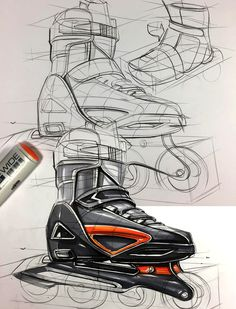 Industrail Design Sketch & Marker Rendering Tutorial - Designkonzept Skizzen - Industrail Design Sketch & Marker Rendering Tutorial on Behance - Logos Vintage, Logos Retro, Drawing Sketches, Pencil Drawings, Art Drawings, Logos Photography, Industrial Design Sketch, Industrial Product Design, Sketches Tutorial