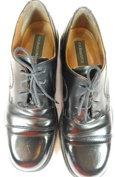 GH Bass & Co Size 12M Black Leather Oxfords Shoes EUC  #GHBassCo #Oxfords