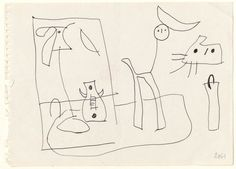 Drawing related to Untitled, 1951 | Sketches | Catalog of works | Fundació Joan Miró