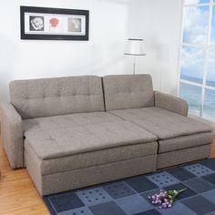 Gold Sparrow Denver Sectional Sleeper Sofa and Ottoman Set | AllModern