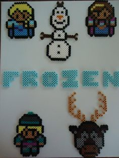 Frozen characters perler beads by PerlerHime